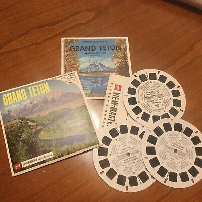 VIEW MASTER  3 Scheiben GRAND TETON National Parks