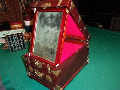 Sale - Unusual Antique Asian Make-Up Jewelry Cabinet, Estate Find