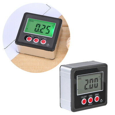 LCD Magnetic Base Digital Protractor Angle Gauge Finder Inclinometer Bevel Box
