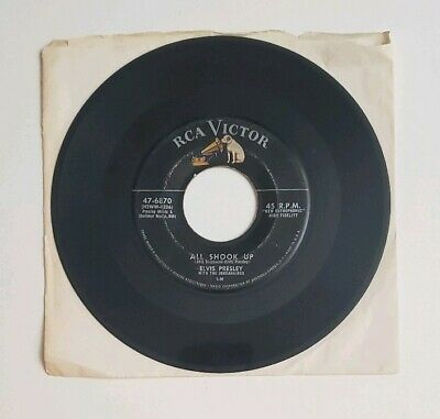 Elvis Presley 45 RPM All Shook Up/That's When Your Heartache Begins RCA 47-6870