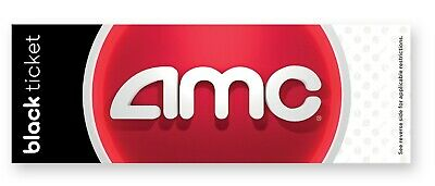 AMC Theatre 4 Black MOVIE TICKETS, 2 Large POPCORN & 4 Large Drinks E-DELIVERY
