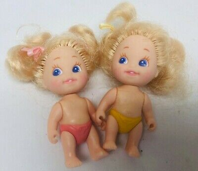 Quints Dolls Set Vintage Tyco Toys Baby Dolls Small Miniature 2.5 Inches 1990s
