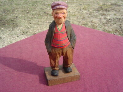 Antique Rare Hobo Wood Carving Signed By Lars Trygg Son of  C. J. Tyrgg Swedish
