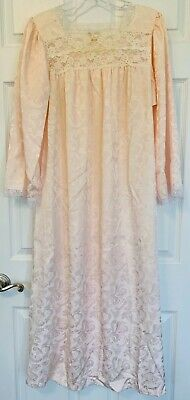 Vintage Christian Dior Lingerie Size Medium Satin & Lace Trim Nightgown - Flaw