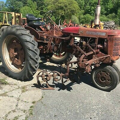 Farmall Super C with hitch and cultivators