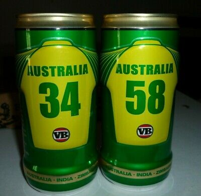 Collectable beer cans - Set of 2 VB Ltd Ed 2003/04 Cricket beer cans