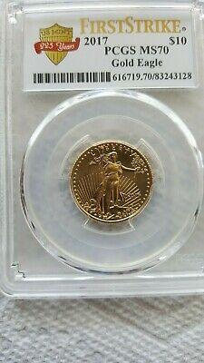 2017 $10 225 Years Gold 1/4 oz American Eagle PCGS MS70 First Strike