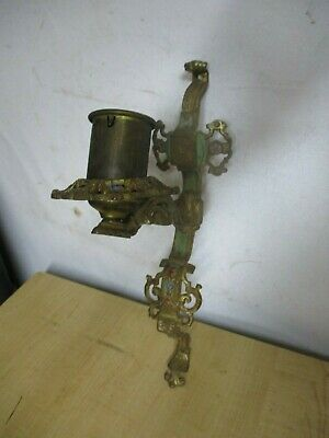 Antique  Ornate  WALL MOUNT ? CHANDELIER  PART ? FIXTURE TURNED CANDLE HOLDER