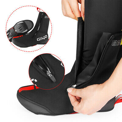 Black Cycling Shoe Covers Waterproof Shoes Cover Road Bike Overshoes Winter Warm