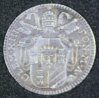 Papal States Italy 1763 Grosso Km1003 Nice Coin Clem Xiii