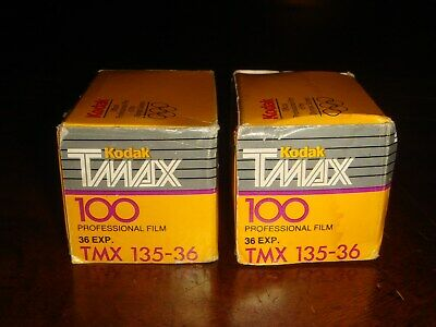 LOT OF 2 KODAK TMAX 100 Black and White Print Film 36 Exp SEALED EXPIRED 1993