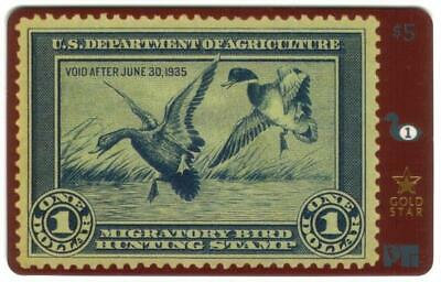 Duck Hunting & Conservation Permit Stamps Cplt Set of 62 GOLD* USED Phone Card