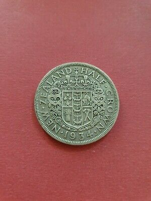 New Zealand 1934 Half Crown  (500 Silver)