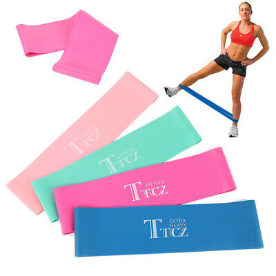 RESISTANCE BANDS LOOP SINGLES - Home Workout Exercise Glutes Yoga Pilates rt8