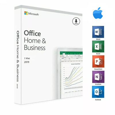 Microsoft Office 2019 Home & Business for MAC  Genuine Retail Key
