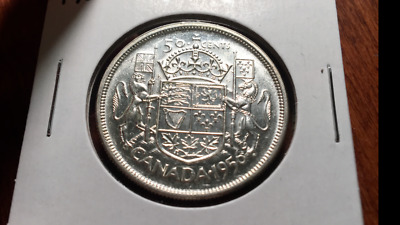 1956 Canada Silver Fifty Cents - very nice coin