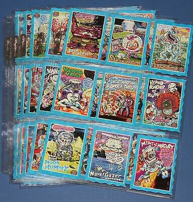 Oddbodz Blue Space Glow Zone Complete Set of 61/61 Cards - Excellent