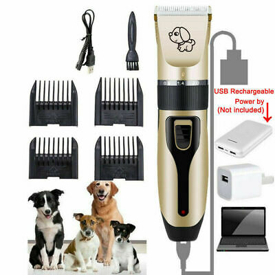 New Cordless Pet Electric Shaver Shears Kit Dog Cat Grooming Quiet Clipper Set