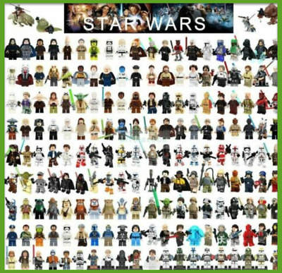 Star Wars Minifigures obi-wan darth vader Jedi Ahsoka yoda Skywalker han solo