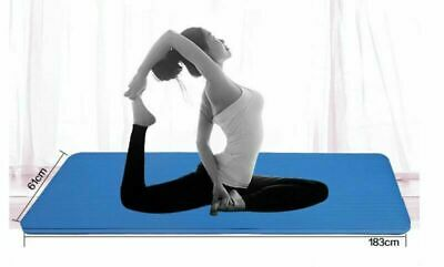 Fitness Yoga Mat Pilates Thick Waterproof Home Sports Exercise Gym 6 Colours New