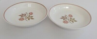 "Susie Cooper ""Talisman"" English Bone China Pair of Soup/Dessert/Cereal Bowls."