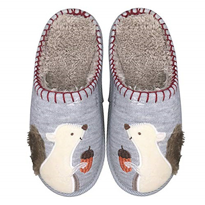 Cute Animal Slippers for Women Mens Winter Warm Memory Foam Cotton Home Slippers