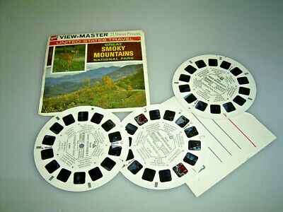 VIEW MASTER  3 Scheiben Great SMOKY MOUNTAINS National Park
