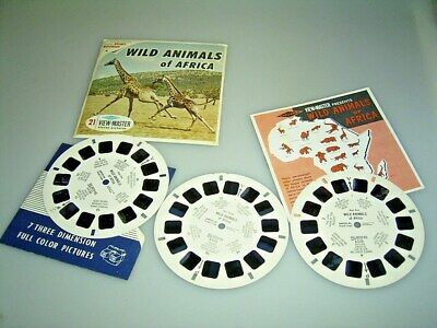 VIEW MASTER  3 Scheiben WILD ANIMALS of AFRICA