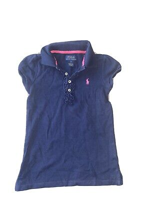 Polo Ralph Lauren Girls Navy Polo Shirt Aged 6 Years Old