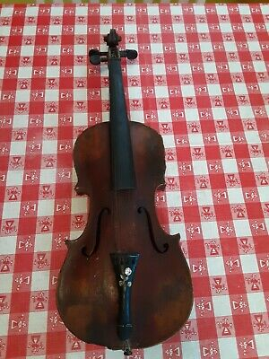 Old 4/4 Violin for Restoration,Parts, or Wall/ Interesting Tailpiece
