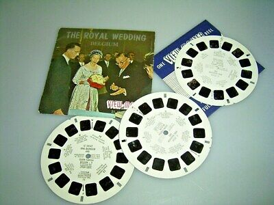 VIEW MASTER  3 Scheiben THE ROYAL WEDDING BELGIUM