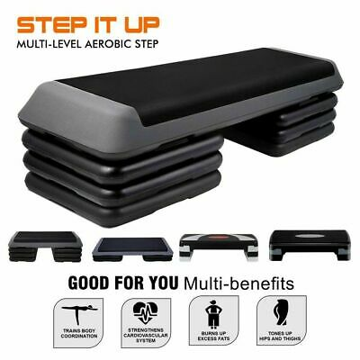 Aerobic Step Exercise Stepper Gym Workout Fitness Cardio Bench Block AU Seller