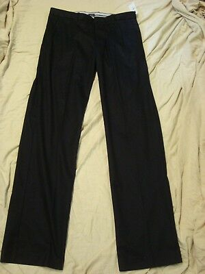 GAP Black Tailored Cap Khakis Relaxed Fit Pants Mens 36x36 NWT