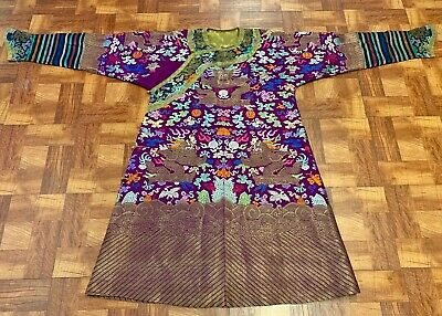 *Mint Condition* Antique Qing Dynasty Chinese Silk Brocade 9 Dragon Court Robe