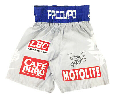Autographed Manny Pacquiao Boxing Shorts - Champion Of The World +COA