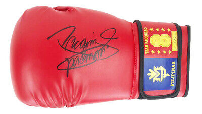 Signed Manny Pacquiao Boxing Glove - Champion Of The World +COA