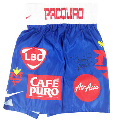 Signed Manny Pacquiao Boxing Shorts - Champions Of The World +COA