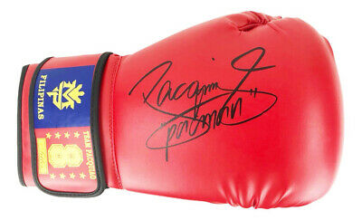 Autographed Manny Pacquiao Boxing Glove - World Champion +COA