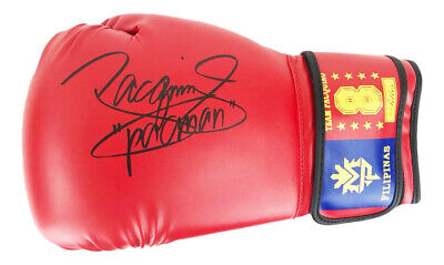 Signed Manny Pacquiao Boxing Glove - World Champion +COA