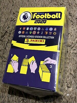 Panini's FOOTBALL 2020 Premier League Stickers Brand New Sealed Box X 100 Packs