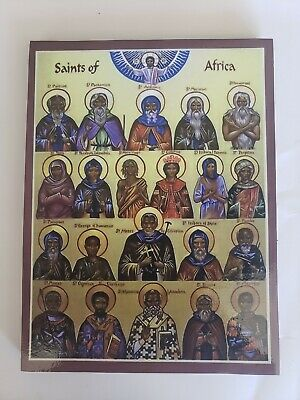 All Saints of Africa, Orthodox Icon, Size 7, 8/16 x 10 inches20 x 27 cm
