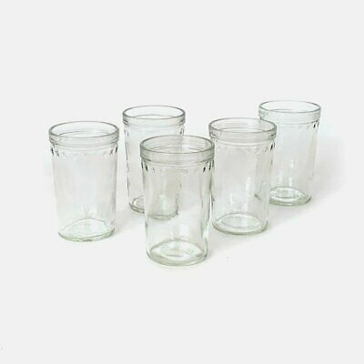 Vintage Jelly Jar Juice Glass Lot of 5