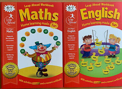 Leap Ahead Maths And English Set of 2 Workbooks For 6-7 Years, New