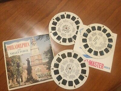 VIEW MASTER  3 Scheiben PHILADELPHIA and VALLEY FORGE