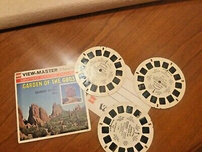 VIEW MASTER  3 Scheiben GARDEN OF THE GODS
