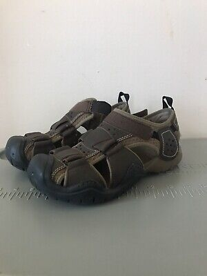 Men/'s Crocs SWIFTWATER Leather Fisherman Black//Graphite Rugged Sandals Shoes