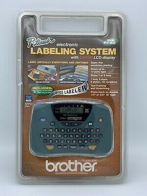 Brother PT-65 P-Touch Home and Hobby Label Maker Large LCD Display Sealed