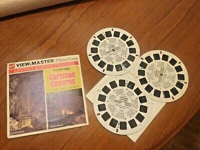 VIEW MASTER  3 Scheiben CARLSBAD CAVERNS NATIONAL PARK Tour 1