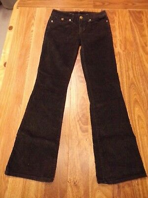 GAP 1969 Sexy Boot Corduroy Pants ~ Tornado Grey Stretch Womens 26 / 2