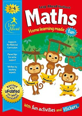 Leap Ahead Workbook __ Maths 3-4 Years __ Brand New __ Freepost Uk